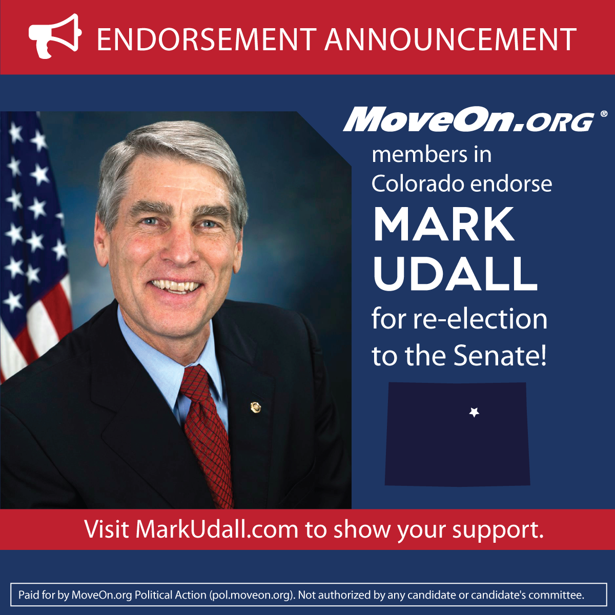 MoveOn_Members Endorse Mark Udall