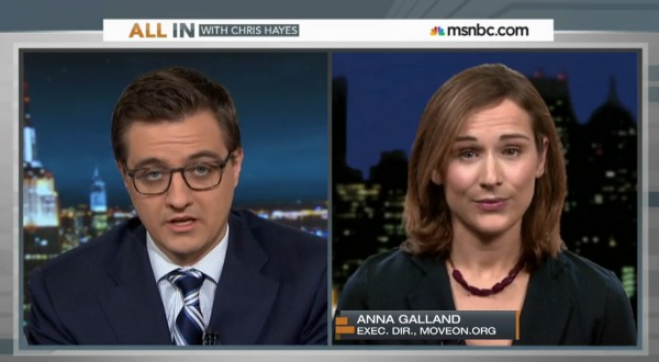 MoveOn Executive Director Anna Galland   on Chris Hayes