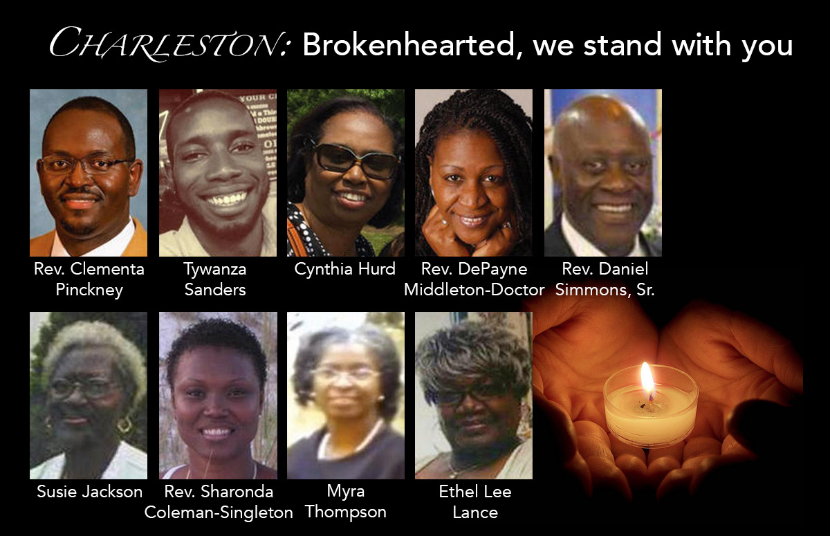 Charleston: Brokenhearted, we stand with you.