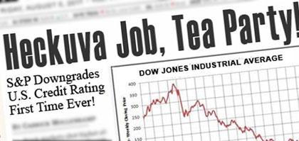 Front page: Heckuva Job, Tea Party!