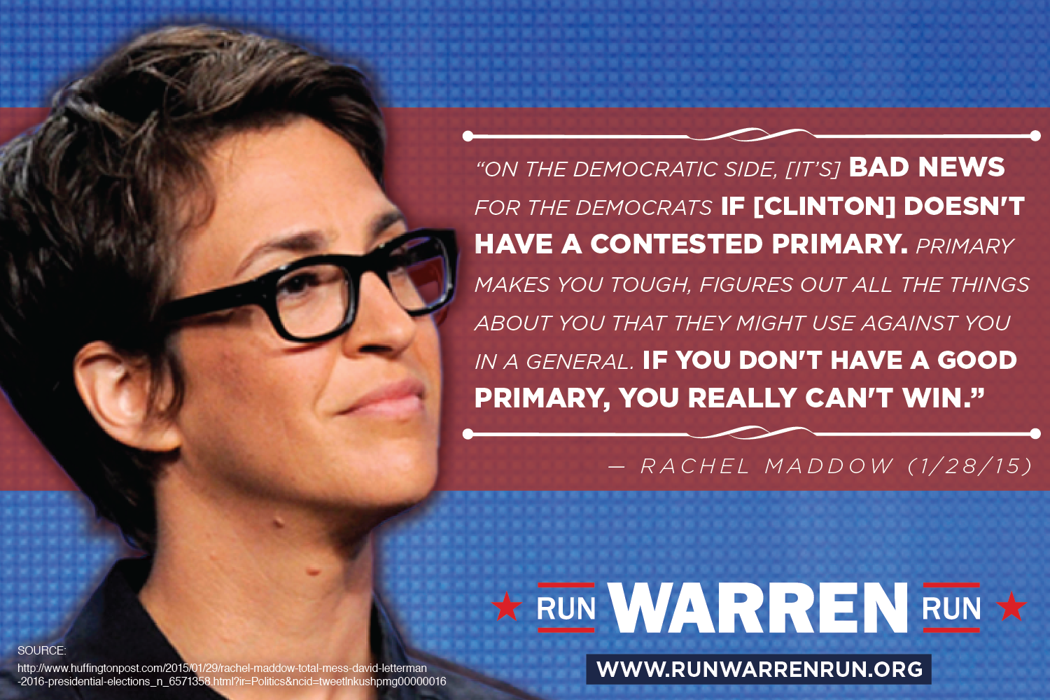 Rachel Maddow calls for contested primary for Democratic Party