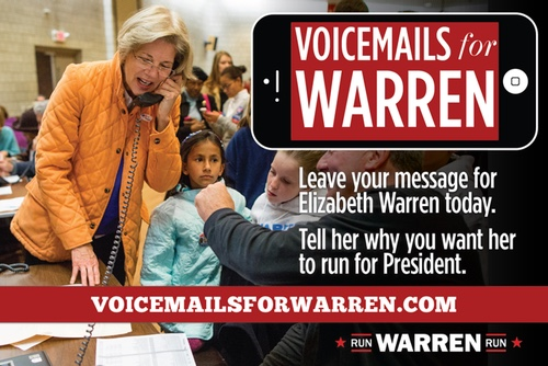 Voicemails for Warren: Leave yours today!