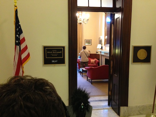 Me  at Senator McConnell's office