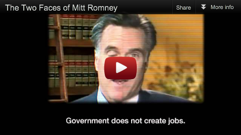 Click to see  the two faces of Mitt Romney