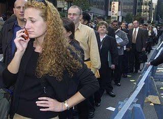 <Modern unemployment line