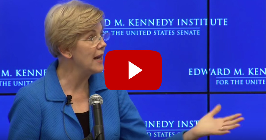 Senator Elizabeth Warren remarks at the Edward M. Kennedy Institute for the United States Senate